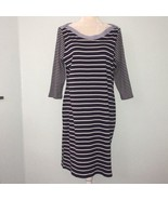 Tommy Hilfiger Navy and White Striped Dress Womens XL - $71.53