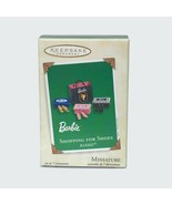 2003 Hallmark Keepsake Miniature Ornament Barbie Doll Shopping for Shoes - $13.96