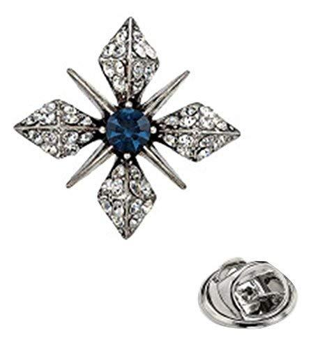 2 Pcs Brooches Corsage Retro Cross Needle Shirt Collar Suit Brooch Pin