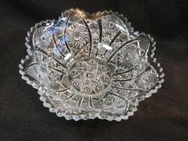 "Imperial Glass EAPG Hobstar Bowl Flared Sawtooth Edge 8"" Diameter - $24.75"
