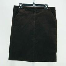 J. Crew Women's Brown Stretch Vintage Corduroy Straight Fit Skirt Size 8 - $17.82