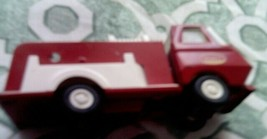 SMALL RED WHITE TONKA FIRE TRUCK VINTAGE USED GOOD CONDITION - $16.82