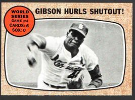 1968 Topps #154 World Series Game 4 (Gibson) Nr/Mt Nice! - $8.33