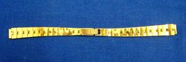 Vintage Ladies Gold Link Straight End Watch Band Bracelet - $15.99