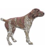 """2 5/8"""" x 3 1/8"""" German Shorthaired Pointer Dog Breed Embroidery Patch - $5.99"""