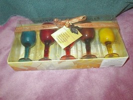 NIB Chesapeake Bay CANDLE SET Wine Holders & Votives PUMPKIN Spice VANIL... - $14.28