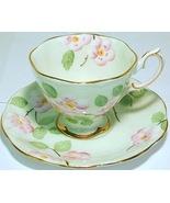 Royal Albert Evangeline gold trim hand painted porcelain cup and saucer set - $7.95