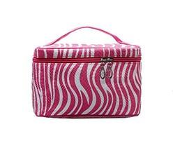 Professional Cosmetic Case Fuchsia Striped Beauty Box