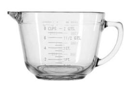 2 QUART GLASS MEASURING BATTER BOWL WITH SPOUT - $331,78 MXN