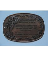 Central Park, Gillencham, January 1855 park tin placque, vintage, old, N... - $142.50