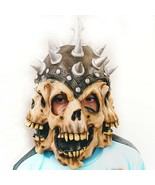 3 Face Warrior Skull With Spiked Helmet, Latex, 3 sided, Halloween, Skel... - $24.14