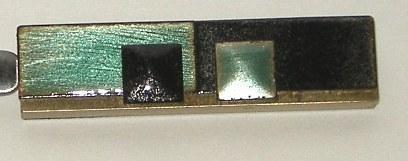 Vintage Metal Blue Black Speckle Enamel Letter Opener