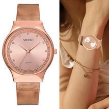 Yuhao® Rose Gold Watch Women Geneva Famous Rhinestone Ladies Dress Quart... - $8.39
