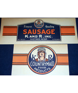 K and R Countrymaid Vintage Ad Sign Set, 1940's - $19.99
