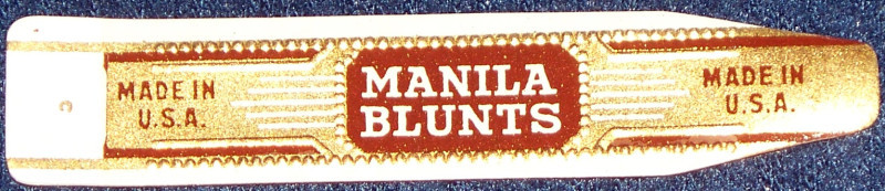 Pirated! Manila Blunts Cigar Band Label, 1960's