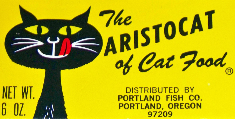 The Aristocat!, Vintage Tuna 4 Cats Label
