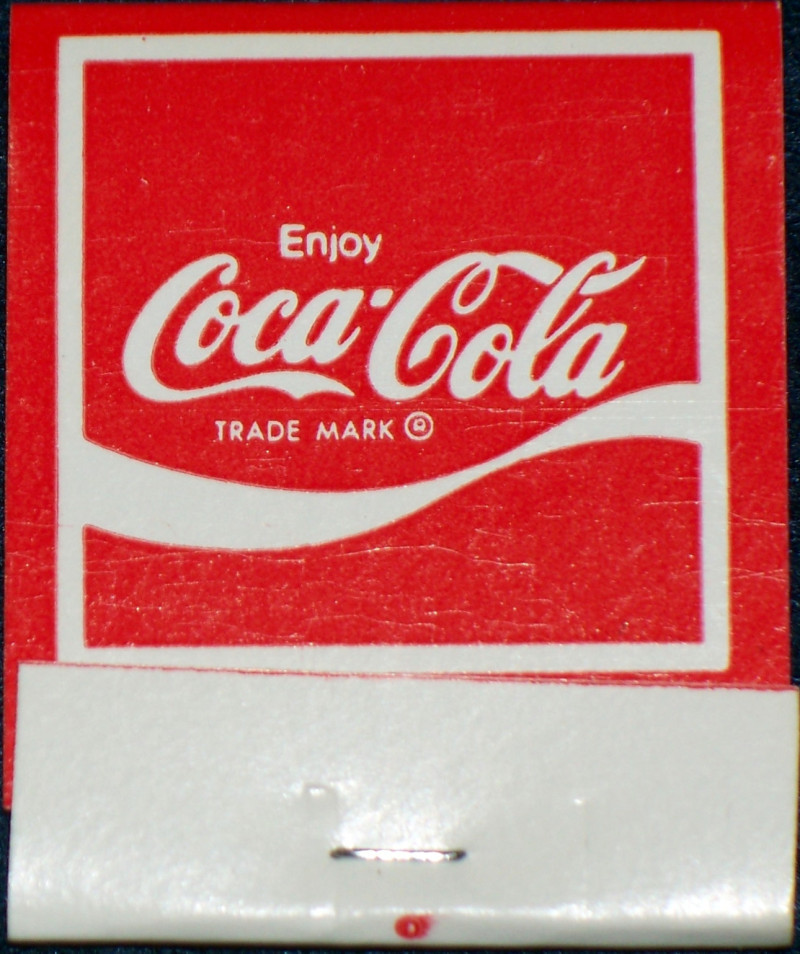 Coke matchbook 001