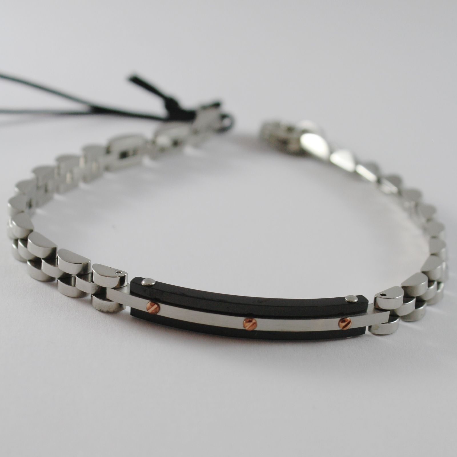 STEEL BRACELET POLISHED WITH PLATE CESARE PACIOTTI 4US ARTICLE 4UBR4180