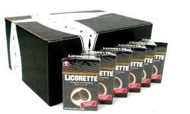 Licorette Sugar Free Licorice Flavored Pastilles, 0.88 oz Packets in a BlackTie  image 1