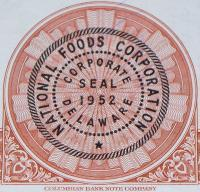 National Foods Corp. Stock, OVER 100! , 1950's