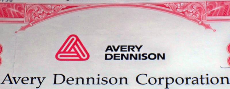 Avery denison stock certificate 002