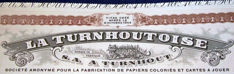 Turnhoutoise stock certificate 004
