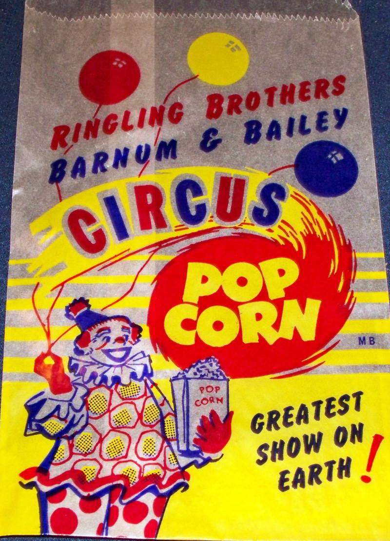 Ringling bros  popcorn peanut bag 004