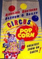 Ringling Bros. Barnum & Bailey Circus Popcorn Bag, 1950