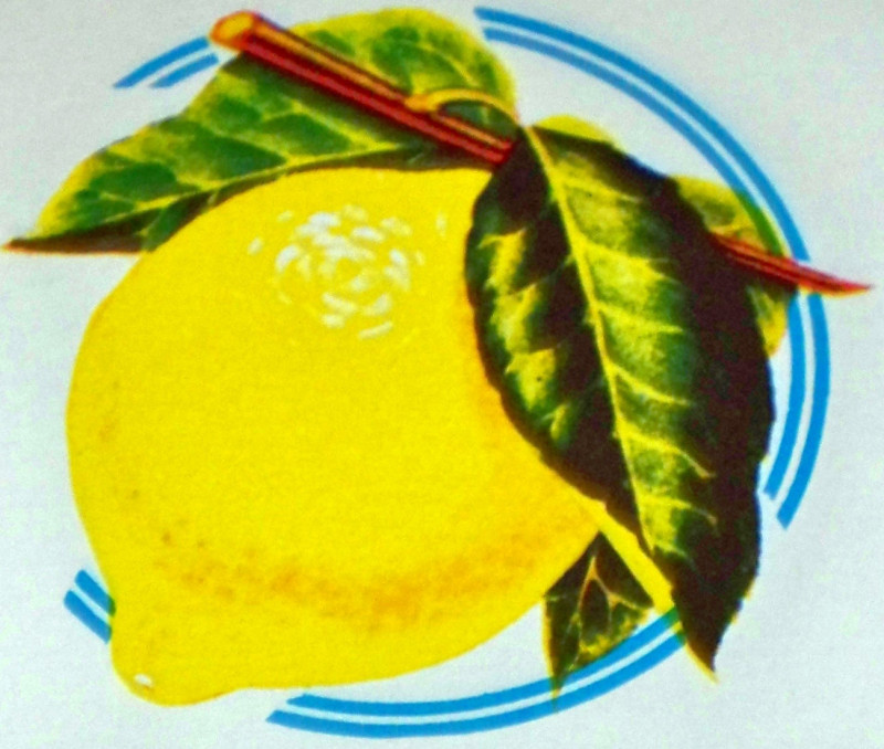 Keana lemon juice label 002