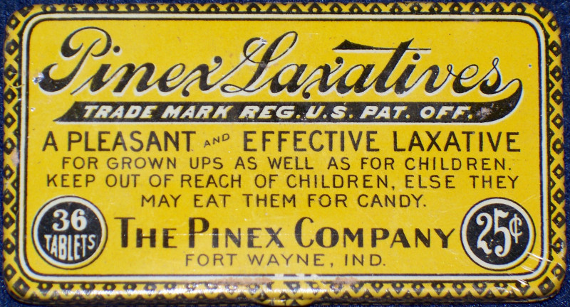 Antique laxative tins 002
