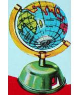 REMEMBER 50 YEARS AGO? Tin Globe Pencil Sharpeners 1960 - $5.99