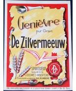 Rustic! Genievre de Zilvermeeuw ( Wine ) Label, 1930's - $1.19