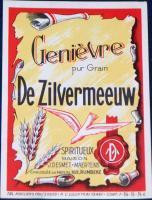 Rustic! Genievre de Zilvermeeuw ( Wine ) Label, 1930's