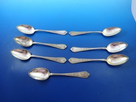 Sterling Silver 7 Russian Place Soup Spoons with Bows Vintage (#4032) - $729.00