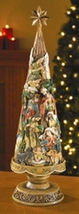 Nativity Tree  Figurine - 20 1/2 inch
