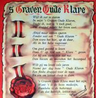 Poem! 5 Graven Oude Klare Spiritueux Label, 1930's