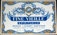 Decorative! Fine Vieille Spiritueux Wine Label, 1930's
