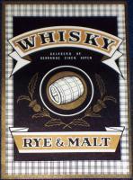 Regal German Oak! Whisky Rye & Malt Label, 1930's