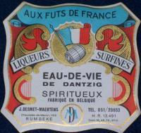 High Test! Eau-de-vie de Dantzig Spiritueux Label 1930s