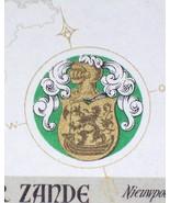 Coat of Arms! Vanda vin Blanc (White Wine) Label, 1930s - $1.19