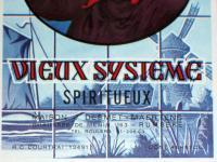Bottoms Up! Oude Klare Vieux Systeme Spiritueux Label