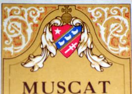 Ornate! Muscat de Valencia vin de Liqueur Label, 1930's - $1.19