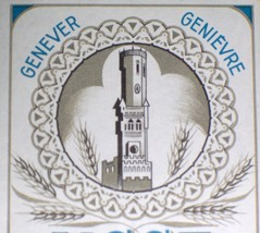 Tower! Genever NGSF (Dutch Gin) Spiritueux Label, 1930s - $0.99
