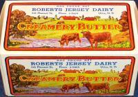 UNIQUE!!! Roberts Jersey Dairy Butter Box Pre-1930