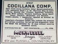 Morphine Label, Cocillana Syrup Compound,1930's