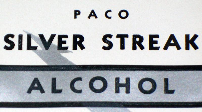 Silver streak label 002