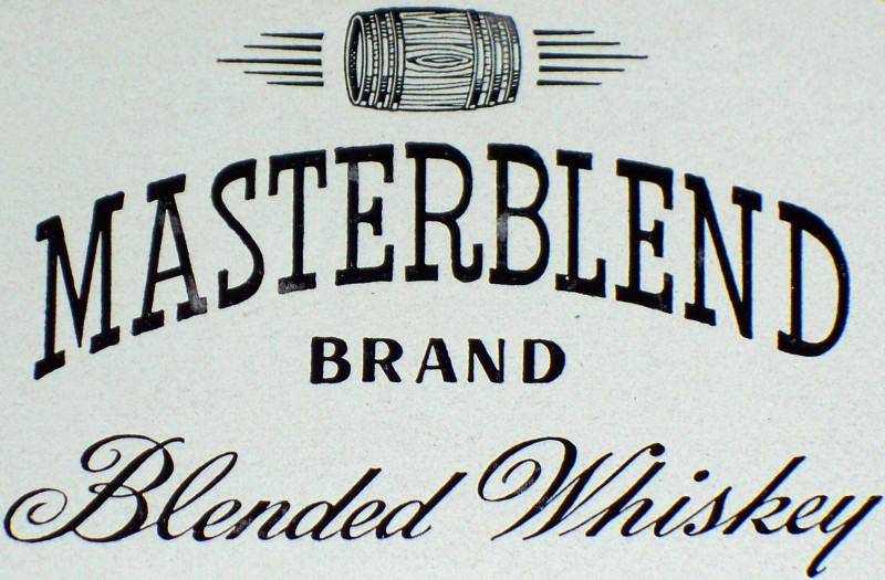 Luxury! Masterblend Whiskey Label, 1930's