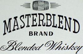 Luxury! Masterblend Whiskey Label, 1930's - $1.19