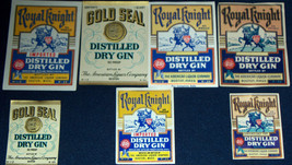 ATTENTION GIN LOVERS!! 7 BOSTON ALCo Labels 1930-40s - $4.99