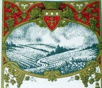 Incredible Litho! Clos du Vallon (White Wine) Label, 1930's